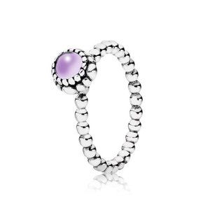 Pandora February Birthstone Ring